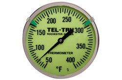 Glow Dial Bimetal Thermometer with Reflective Clips and Pointer