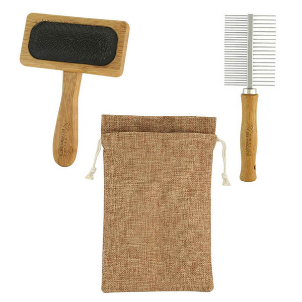 Bamboo Pet Grooming Kit For Dogs And Cats