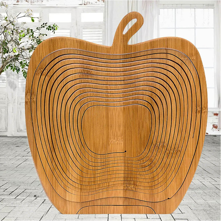 Bamboo Kitchen Fruit Storage Basket