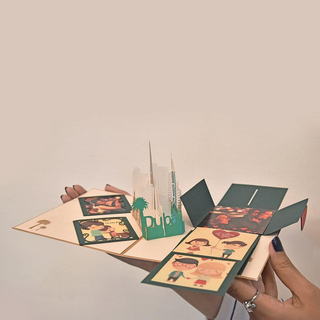 PERSONALIZED  DUBAI 3D POP UP GREETING CARD