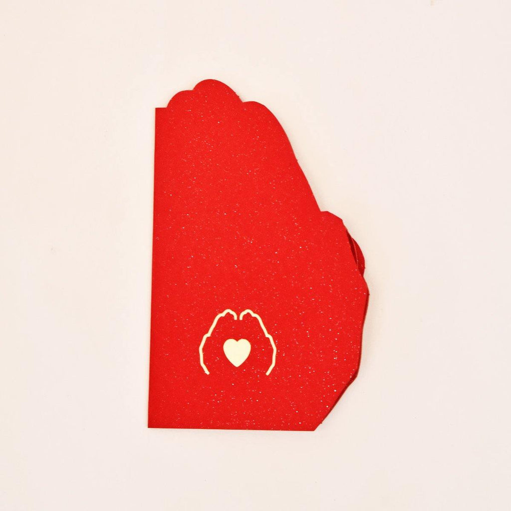 Love in the hand 3d pop up greeting card - Gift Kya De