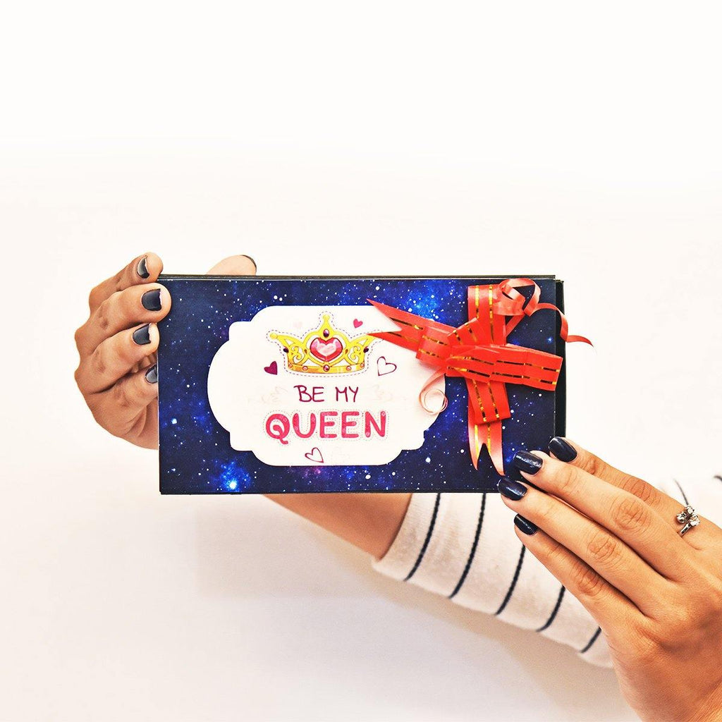 PERSONALIZED BE MY QUEEN POP UP CUBES