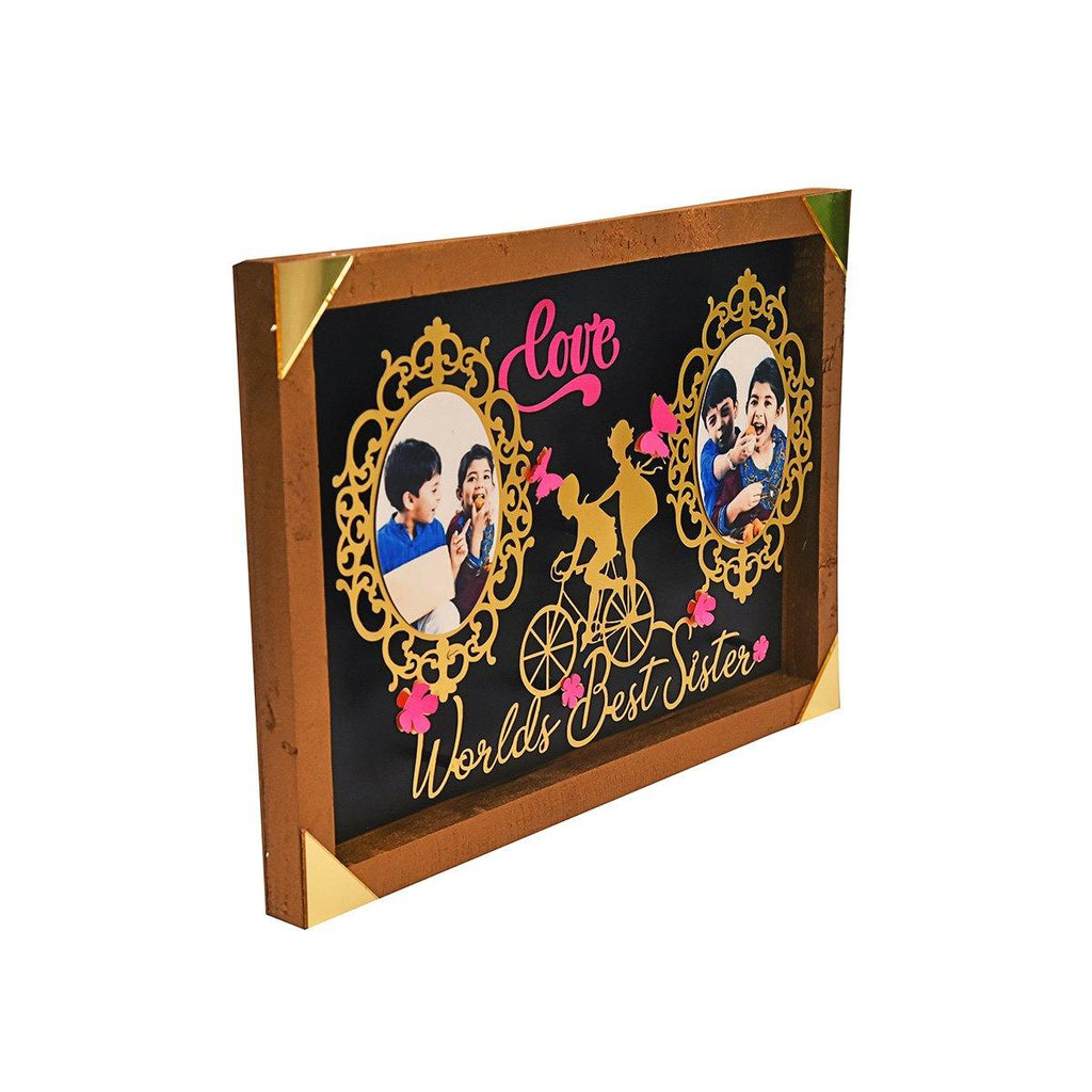 PERSONALIZED World's Best Sister Photo Stand - Gift Kya De