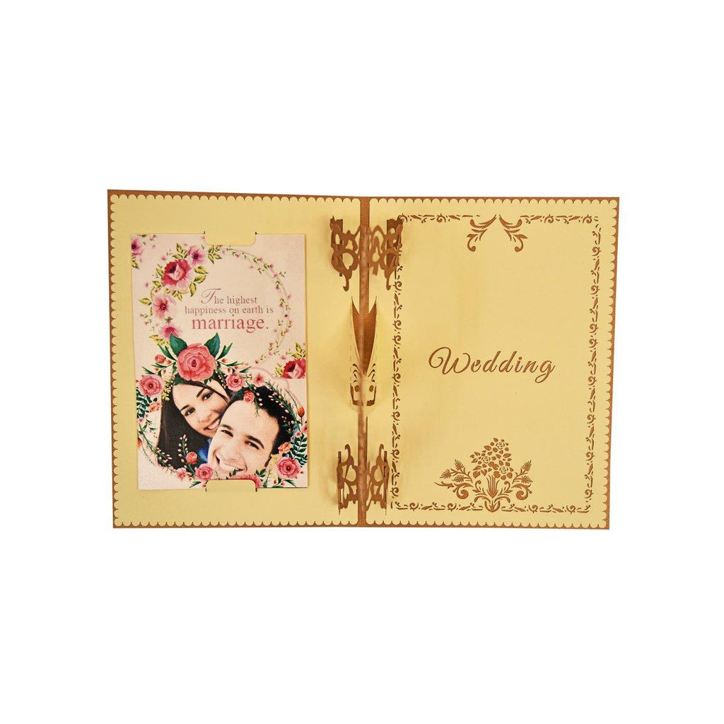 PERSONALIZED Sweet love wedding invitation 3d pop up greeting card