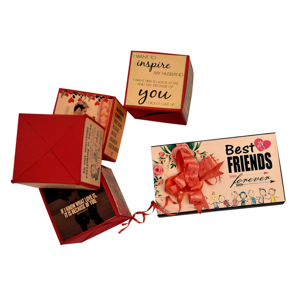 PERSONALIZED BEST FRIEND POP UP CUBES - Gift Kya De