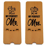 Perfect Couple Edition Wooden Mobile Stand ( Pack of 2 ) - Gift Kya De
