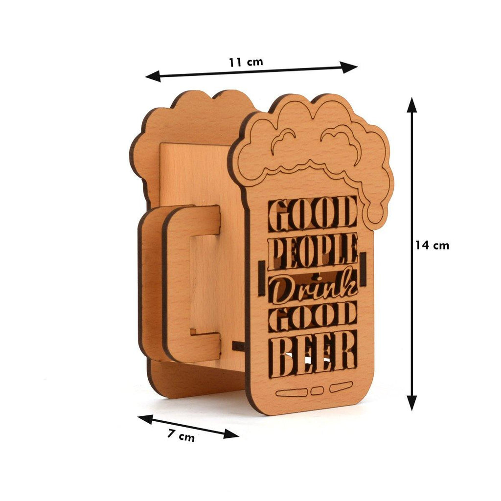Wooden Mobile Stand & Beer Mug Style Pen Holder COMBO SET