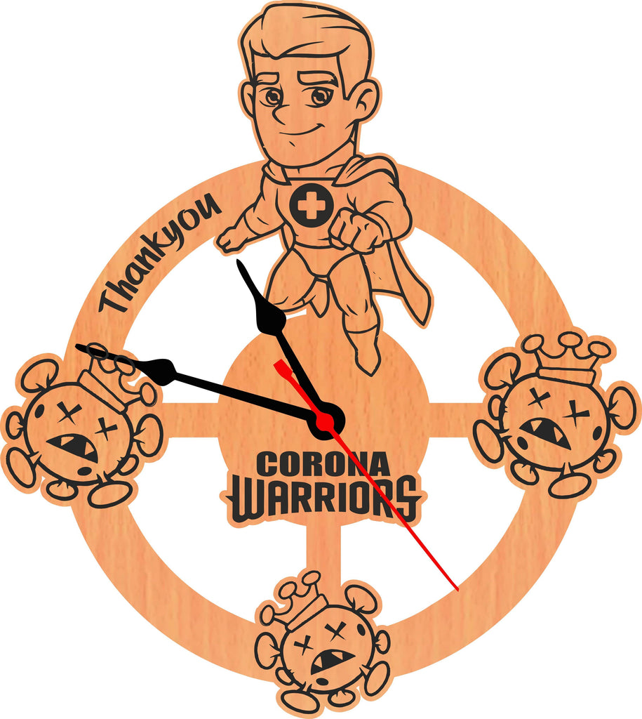 Thank You Corona Warriors Special Edition For Doctor Wall Clock - Gift Kya De