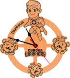 Thank You Corona Warriors Special Edition For Doctor Wall Clock