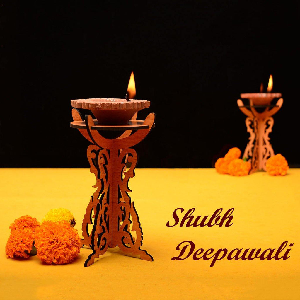 Decorative Diya Stand ( Pack Of 2 ) - Gift Kya De