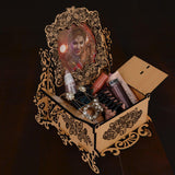 WOODEN JEWELRY BOX WITH PHOTO FRAME