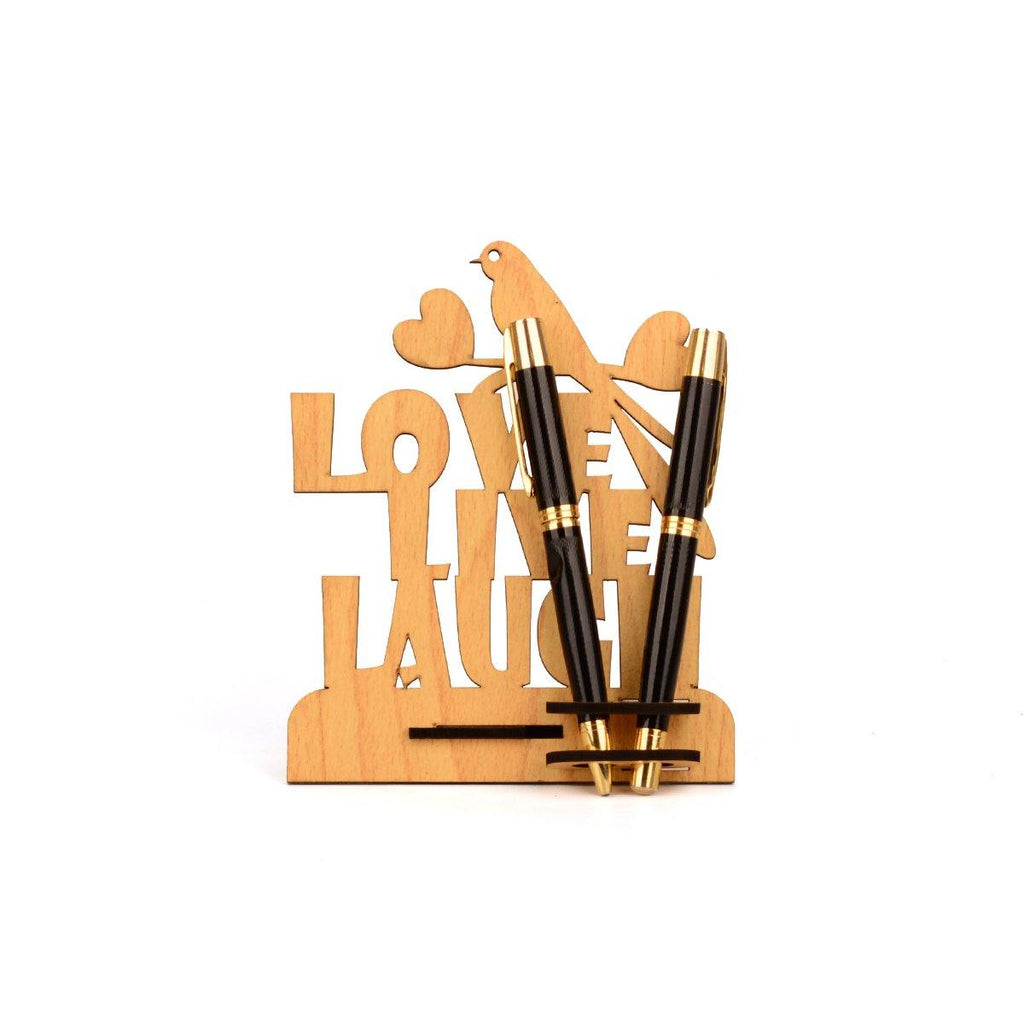 "MOTIVATIONAL QUOTE  ""LOVE LIFE LAUGH""  PEN HOLDER"