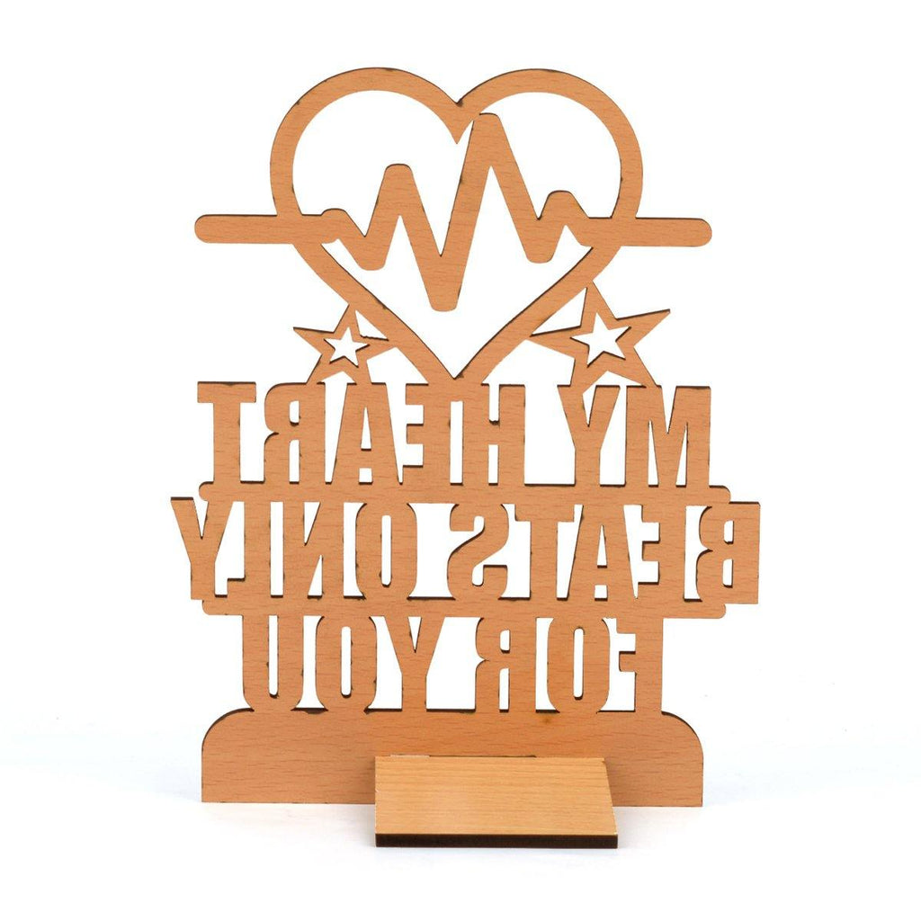 "VALENTINE WEEK SPECIAL ""My Hearts Beats Only For You"" Table Top"