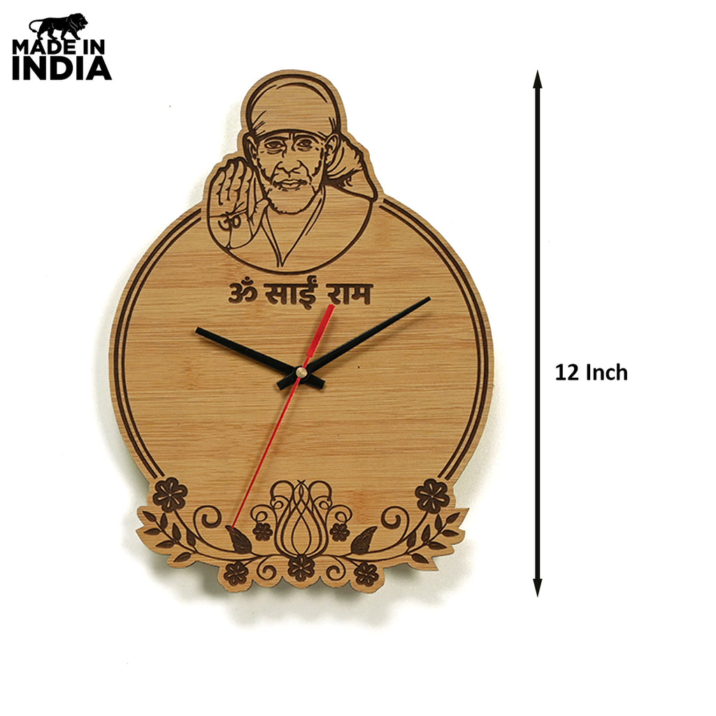 SAI BABA THEME WALL CLOCK