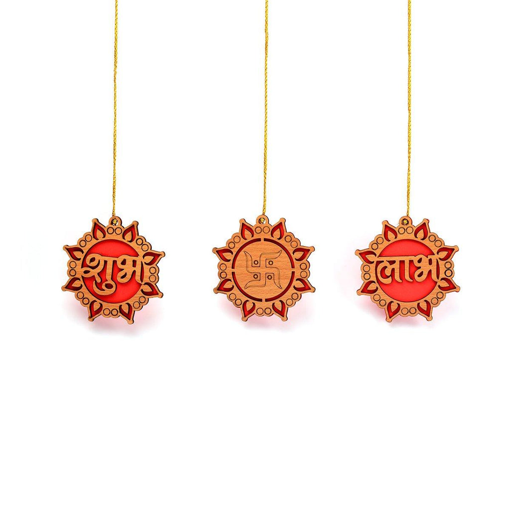 Subh Labh Swastik Designer Wooden Decorative