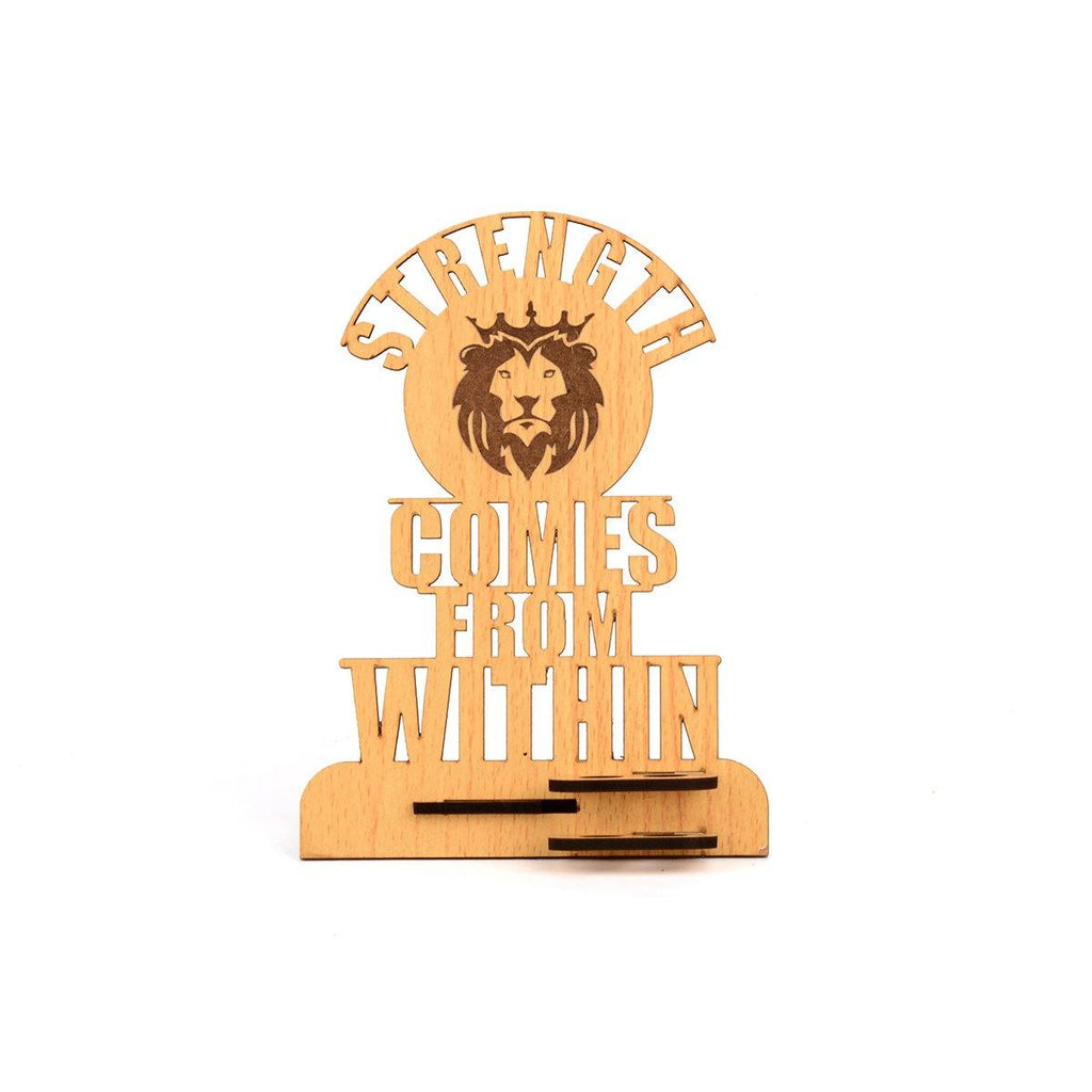 "MOTIVATIONAL QUOTE  ""STRENGTH COMES WITHIN""  PEN HOLDER"