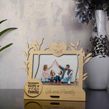 Wooden We are family Photo Frame Love Birds Table Top 4x6