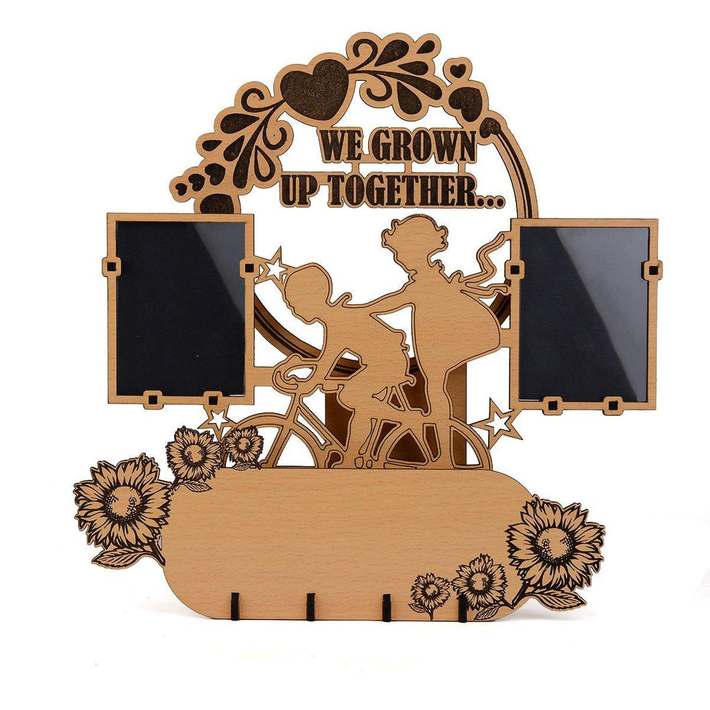 WE GROWN UP TOGETHER BROTHER SISTER PHOTO FRAME