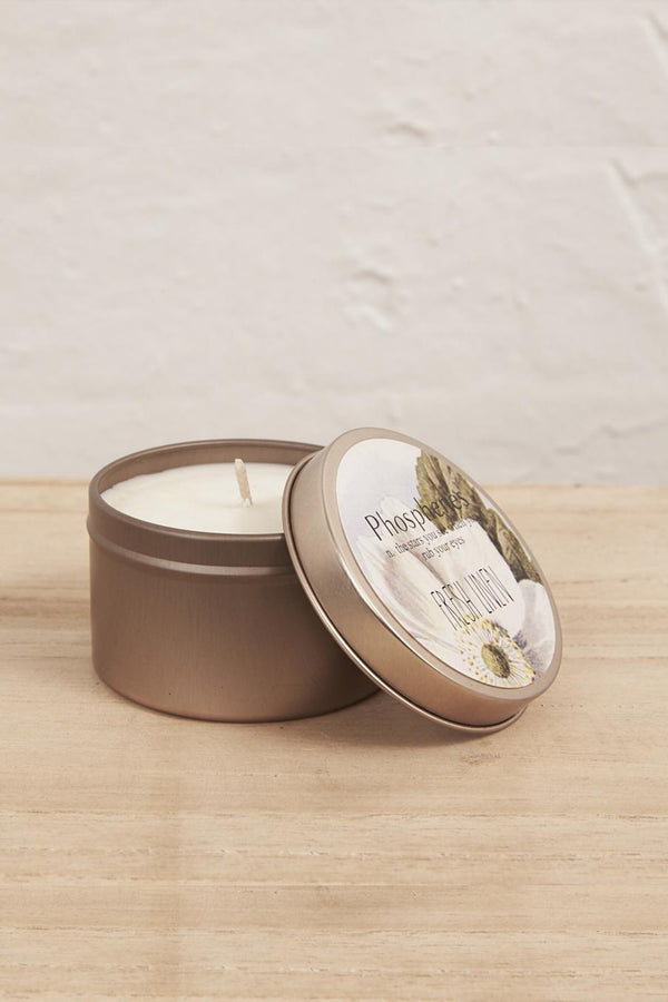 Hand Poured Soy Candle in Travel Tin - BRASS