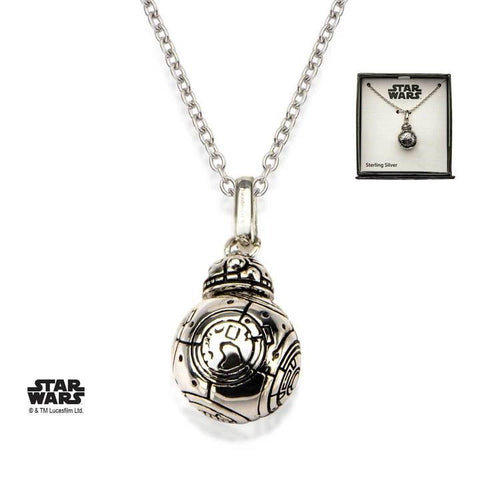 star wars episode 7 bb-8 lead hero droid spinning head 3d pendant necklace