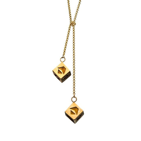 star wars han solo corellian gold 3d dice necklace