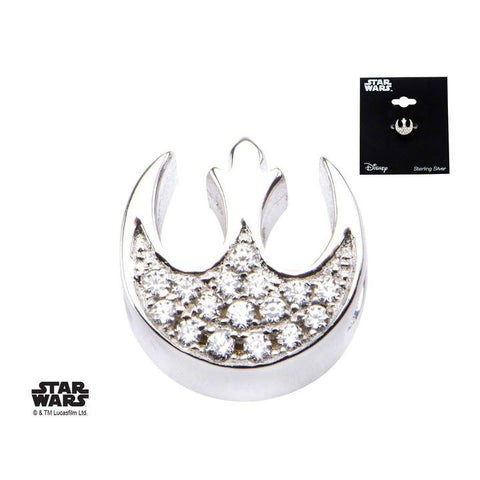star wars rebel alliance symbol with clear cz bead charm