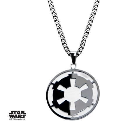 Star Wars Imperial Symbol & Death Star Pendant Necklace