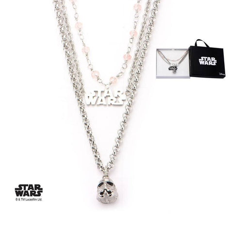 star wars stormtrooper tiered necklace