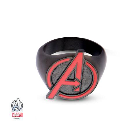 """marvel cut out red the avengers logo """"a"""" ring"""