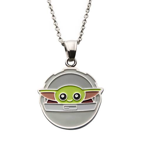 Star Wars Mandalorian The Child Baby Yoda In Carriage Pendant