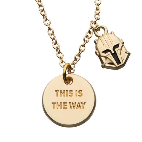 """Star Wars Mandalorian """"This Is The Way"""" Pendant Necklace"""