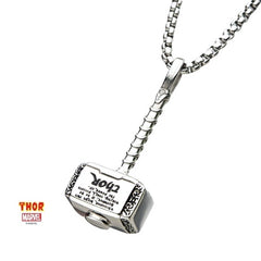 Necklace with Thor Mjolnir Pendant