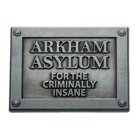 DC Comics Arkham Asylum Plaque Lapel Pin
