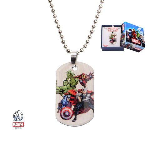 Marvel Avengers Assemble Dog Tag Kids Pendant Necklace