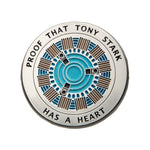 "Marvel Avengers Tony Stark ""has a heart"" Lapel Pin"