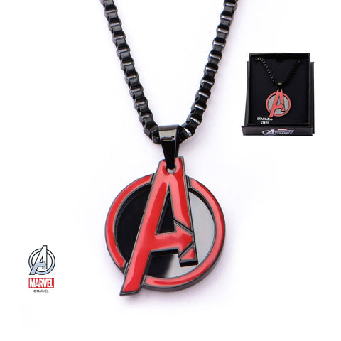 "Marvel Red The Avengers ""A"" Logo Pendant Necklace"