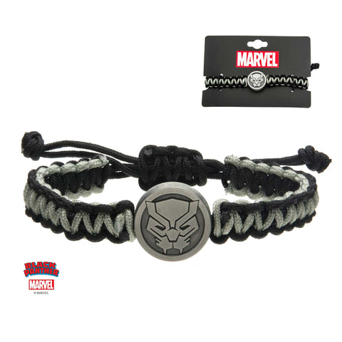 Marvel Black Panther Logo Paracord Bracelet