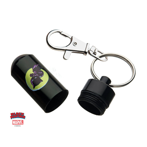 Marvel Black Panther Stash Pill Storage Key Chain