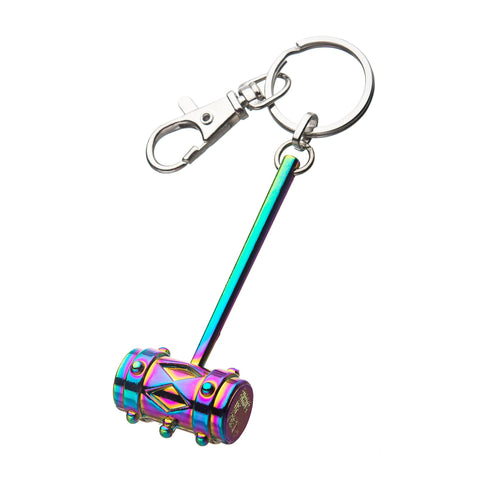 DC Comics Birds of Prey 3D Mallet Rainbow Key Chain