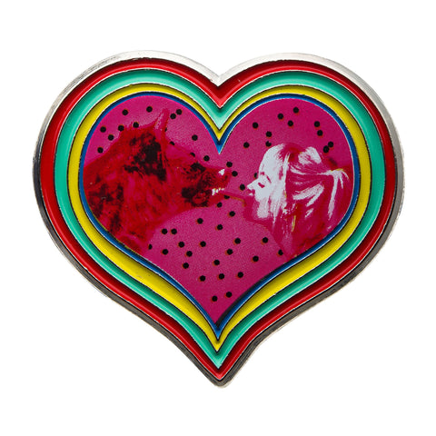 DC Comics Birds of Prey Harley Quinn & Hyena Heart Lapel Pin