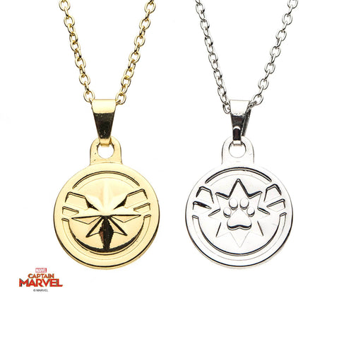 Captain Marvel Goose Bestfriend Pendant Necklace