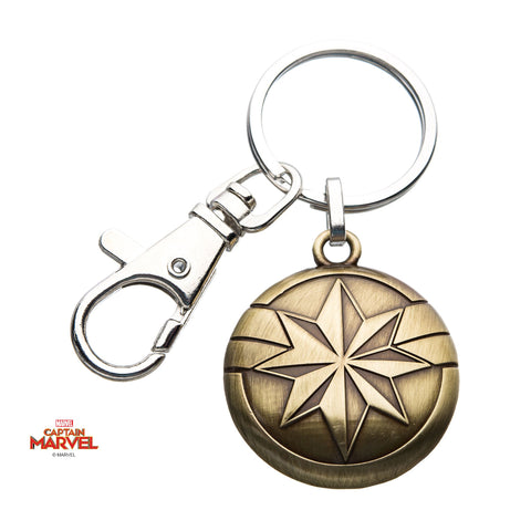 Captain Marvel Golden Logo Key Chain