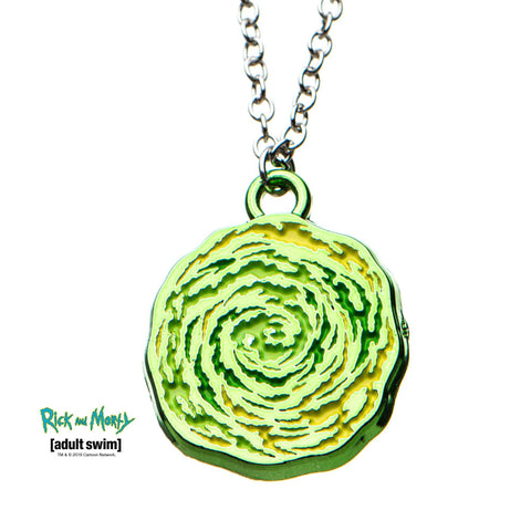 Rick and Morty Portal Spinning Pendant Necklace