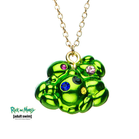 Rick and Morty Fart Multi Gem Pendant Necklace