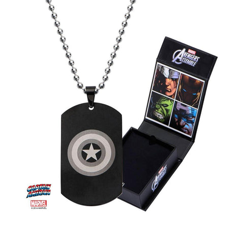 Marvel Captain America Logo Dog Tag Pendant Necklace