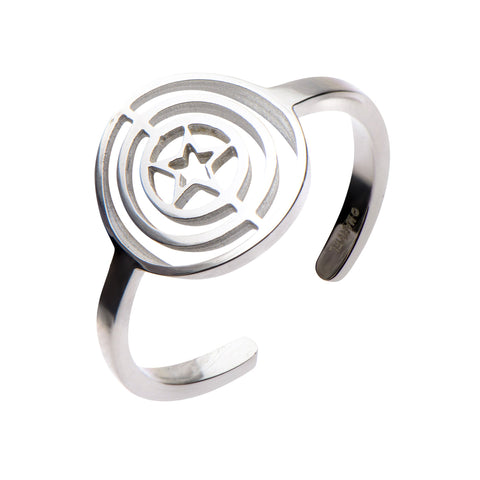 Marvel Captain America Star Circle Ring