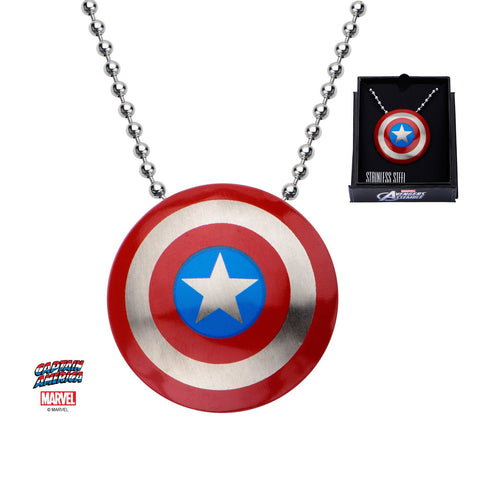 Marvel Captain America Shield Logo Small Pendant Necklace