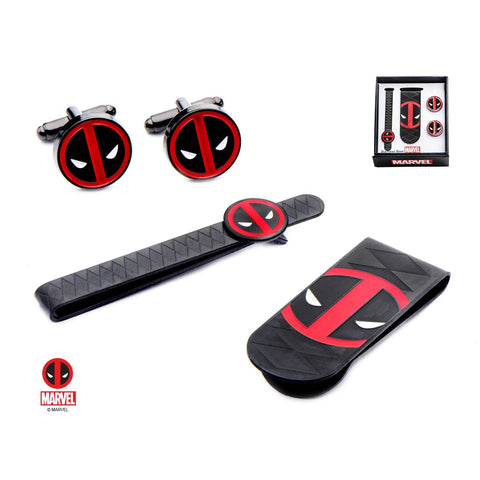 Marvel Deadpool Money Clip, Tie Bar & Cufflinks Set