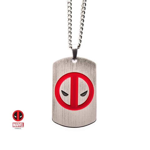 Marvel Deadpool Dog Tag Pendant Necklace