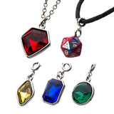 Dungeons and Dragons 3D Dice with Interchangeable Charm Necklace Set